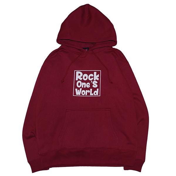 画像1: ROCK ONE'S WORLD ロックワンズワールド SQUARE LOGO HOODIE (1)