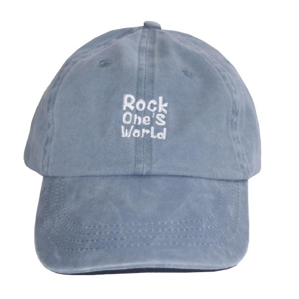 画像1: ROCK ONE'S WORLD ロックワンズワールド LOGO PIGMENT LOW CAP (1)